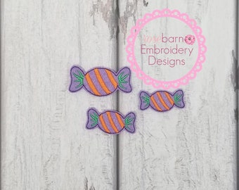 Candy Wrapper Feltie Embroidery Design, Feltie Design, Halloween Feltie