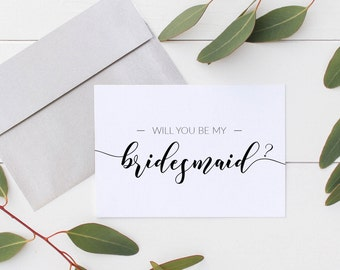 Will You Be My Bridesmaid Cards - Will You Be My: Maid of Honour, Matron of Honour, Flower Girl,Bridesmaid Proposal (5ct Mix & Match) BM5