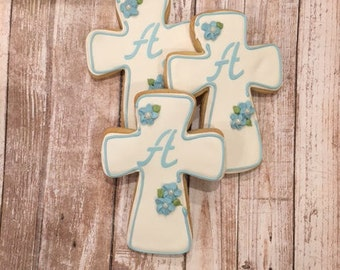 Communion Favors for Boys,  Baptism Cookie Favors,  Edible Communion Favors - 1 Dozen