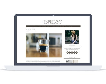 Espresso - Minimal responsive Wordpress Theme - Self Hosted - Perfect for blogging while enjoying your morning coffee.