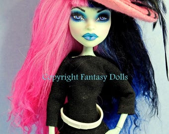 Monster Doll Repaint High Fashion Custom Repainted Dressed Wigged Doll OOAK by FantasyDolls Layaway Available