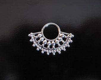 Silver Septum, Indian Nose Ring, Septum Ring, Nose Ring, Bollywood Nose Ring, Tribal Septum,  Tribal Nose Ring, Ethnic tribal silver septum