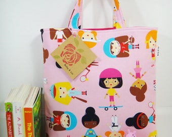 Sport Girls Tote Bag, Mini Tote Bag, Girls Bag, Toddler Tote Bag, Girls Tote Bag, Little Girls Purse