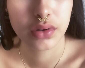 Brass Septum Ring - Septum Jewelry - Septum Piercing - 18G Septum Ring - Indian Nose Ring - Indian Septum Ring - Tribal Septum Ring (B7)