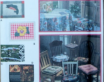 Simplicity 9072 Vintage Retired Place Mats and Chair Pad Sewing Pattern Uncut / Factory Folded