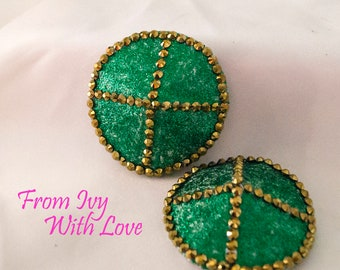 Burlesque Pasties - Green and Gold