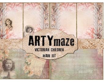 VICTORIAN CHILDREN Digital journal *instant download