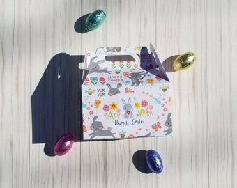 Easter Candy Boxes, Gable Box Mini, Small Gable Box, Easter Treat Box, Box 2X4 inches