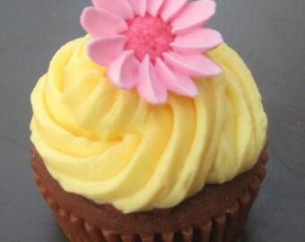 Cupcake Soap - Pretty Pink Petals Vegan Cupcake Soap - Cupcake - Fake Food - Dessert Soap - Novelty - Gift for Her - Party Favor - Vegan