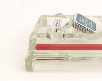 Desk Organizer Glass Ink Well Office decor Desk Ink well JH&Co