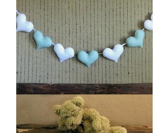 Felt Banner Heart Garland, Custom Felt Banner, Heart Bunting, Kids Birthday Decor, Nursery Decor Wall Art