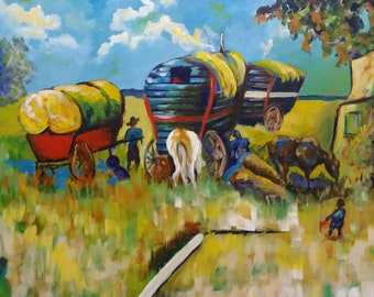 Gypsy Encampment - Van Gogh Inspiration