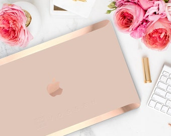 Rose Gold Embossed Company Logo or Business Name (Subtle Embossing in Design Area)  - Touch of Personality and glamour -  Platinum Edition
