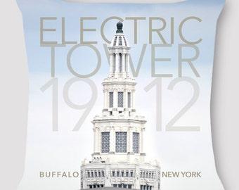 Pillow Photography Buffalo New York Pillow Electric Tower Hand Sewn Zipper Beautiful