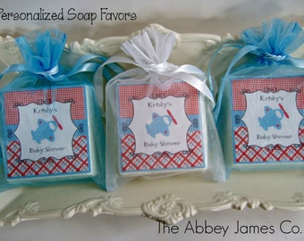 Baby Boy Shower Favors, Soap Favors, Airplane Favors, set of 10