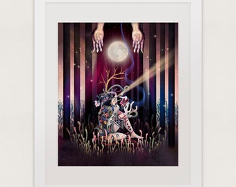 Art print, Surreal art print, Illustration giclée print, Wall art, Whimsical art print