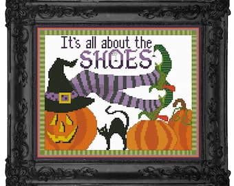 It's All About The Shoes PDF Cross-Stitch Pattern
