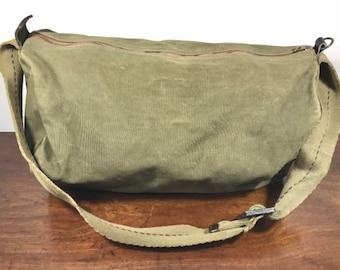 Green Canvas Shoulder Bag, Purse, Bag