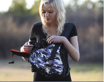 Camera Bag / Camera Bag with Personalized Patch / DSLR / Camera Case / Camera Bag Purse /  Camera Backpack / Medium / Two Lenses /Camouflage
