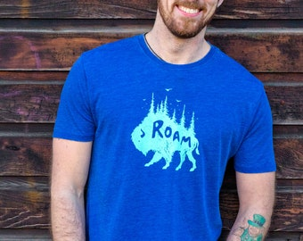 Animal Lover Gift, Nature Lover Gift, Nature Inspired Camping Shirt, Nature Shirt, Wanderlust Shirt, Buffalo Shirt, Bison Shirt, Buffalo Tee