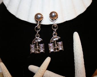 MOTHER'S DAY Jewelry Gift Clip-On Beach Chair Umbrella Earrings