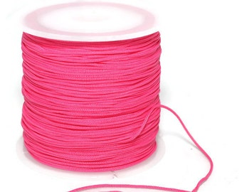 100 m / 110 yard 0.8 mm Nylon Chinese Knotting Cord, Persian Rose Shamballa Macrame, Jewelry Supplies - CNM01