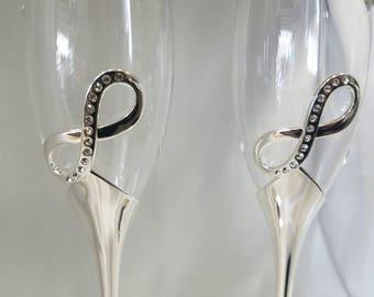 Infinity Wine Glass Cups, Wedding Toast, Wedding Supplies, Brindis de Boda, Copa de Vino para Boda, Infinito