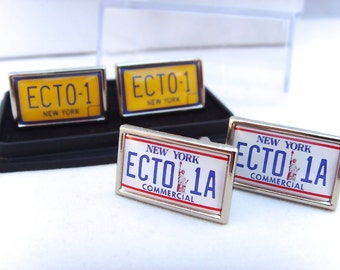 Ghostbusters ECTO-1 ECTO 1A Licence Number Plate Cufflinks Cuff Links