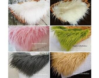 Long Pile Faux Fur Fabric Props, Newborn Photo Prop, Fur Layering, Basket Filler, Newborn Backdrop, Photo Backdrops, Prop Fur, Craft Fur