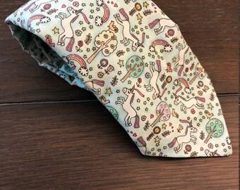 Unicorn Rainbow Necktie