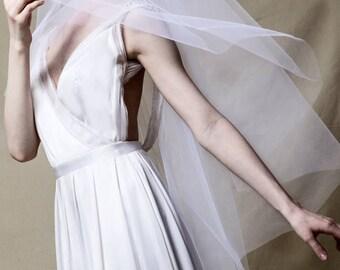 Kate Tulle Veil Chapel Length
