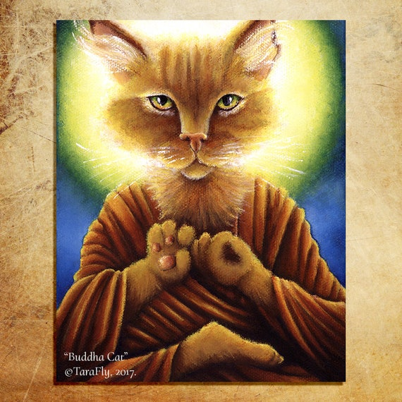 Buddha Cat 11x14 Fine Art Print