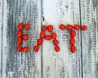 "EAT tomato Still Life Photography, Minimal Kitchen Wall Art, Food Photography ""Eat - tomatoes """