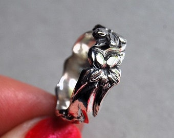 Sterling Flower Ring Double Buttercup Dairy band