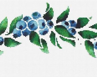 Cross Stitch Pattern, Cross Stitch Patterns, Cross Stitch, Counted Cross Stitch, Cross Stitch Chart, Xstitchpatterns, Cross Stitch Blueberry