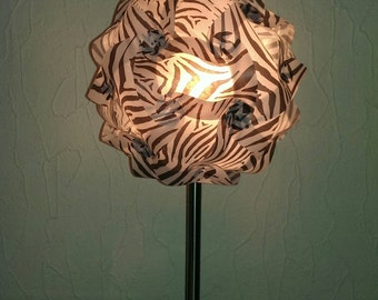 Table lamp in the African Zebra look - selfmade