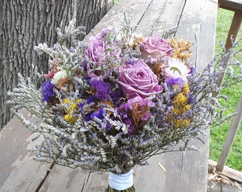 Dried flowers Bouquet. A unique bridal bouquet.
