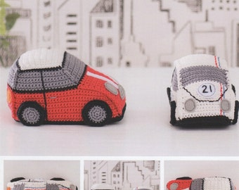 Amigurumi Patterns Cars : Amigurumi classic mini cooper inspired car crochet pattern pdf toy