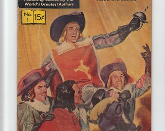 Vintage Classics Illustrated Comic Book: The Three Musketeers, No. 1