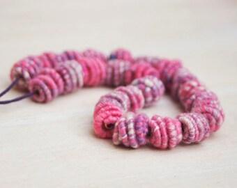 Handmade Copper-Fiber Bead for Artisan Jewelry Designs