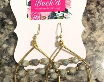 Green/grey beads