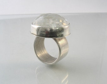 The Ice Galaxy - sterling silver and glass ring