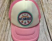 "Toddler/Kids Girl's Trucker Hat- pink with ""Al..."