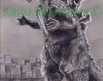 """Godzilla 1954 8 1/2""""x11""""Print"""