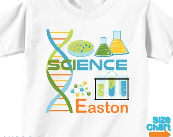 Personalized Science Party T-shirt Bodysuit Boy Kids Little Scientists Science Experiments Lab Birthday Party Shirt