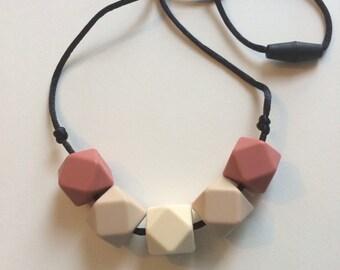 Chic Simple Hexagon Necklace-Maroon