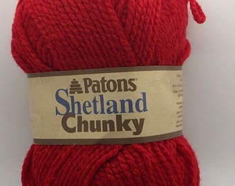 "Patons Shetland Chunky Robin Red Lot 126482 3 1/2 "" 100 g 148 Yards 135 Meter"