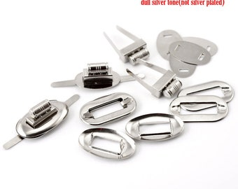 ACC20 32 * 17mm silver metal twist clasp