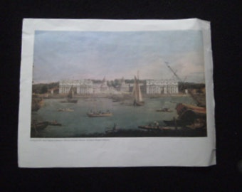 Canaletto Royal Hospital at Greenwich print