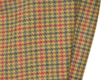 Natural Wool Houndstooth Fabric